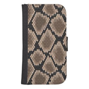 Snake skin samsung s4 wallet case