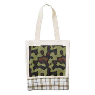 Snake-skin Scales Camouflage Nature Pattern Zazzle HEART Tote Bag