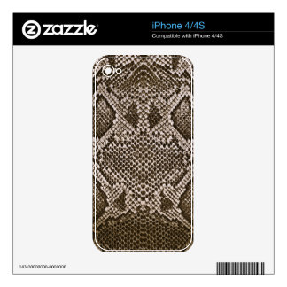 Snake skin skins for iPhone 4