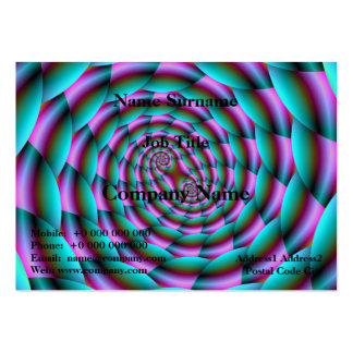 Snake Skin Spiral in Turquoise and Pink Chubby Bus Large Business Card