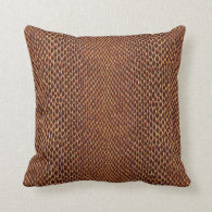 Snake Skin Texture Background Throw Pillow