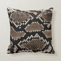 Snake Skin Throw Pillow