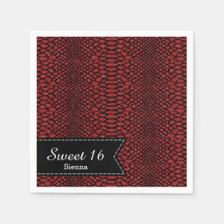 Snake skins napkin