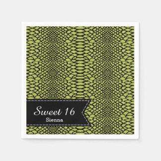 Snake skins paper napkin