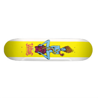 Snake, Skull & Blue Girl Skateboard