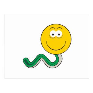 Snake Smiley Face Postcard