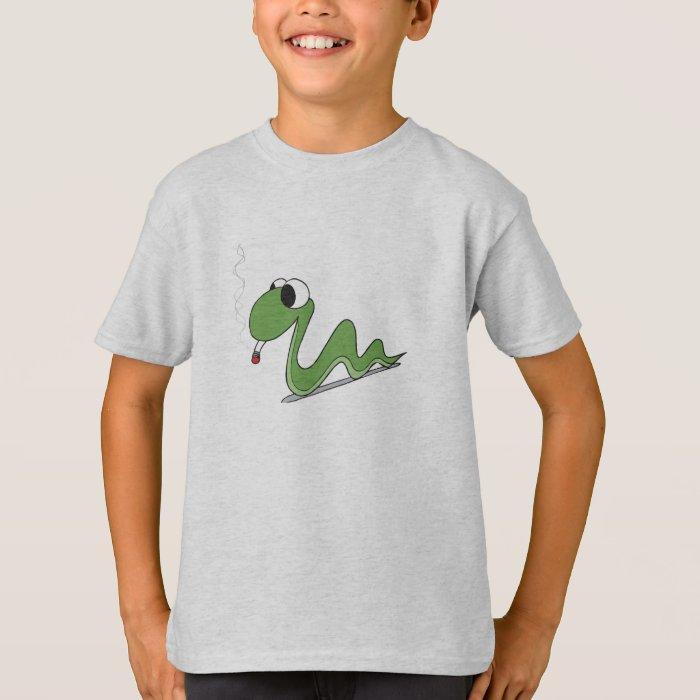 snake smoking a ciggy T-Shirt