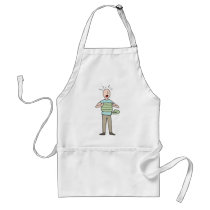 Snake Squeezing Man Asthma Adult Apron