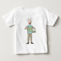 Snake Squeezing Man Asthma Baby T-Shirt