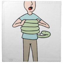 Snake Squeezing Man Asthma Cloth Napkin