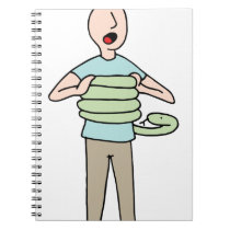 Snake Squeezing Man Asthma Notebook