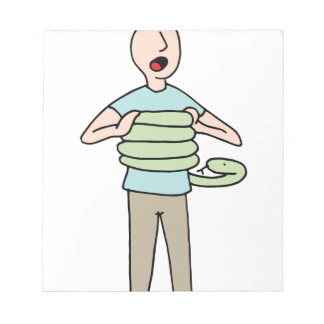 Snake Squeezing Man Asthma Notepad