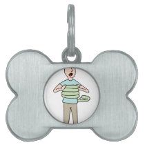 Snake Squeezing Man Asthma Pet ID Tag