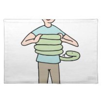 Snake Squeezing Man Asthma Placemat