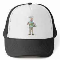 Snake Squeezing Man Asthma Trucker Hat