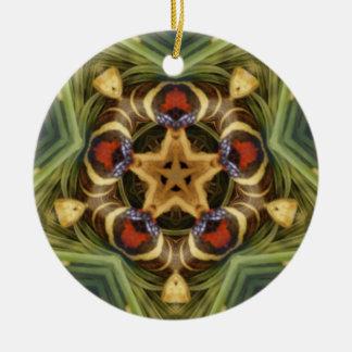 Snake star mandala Ornament