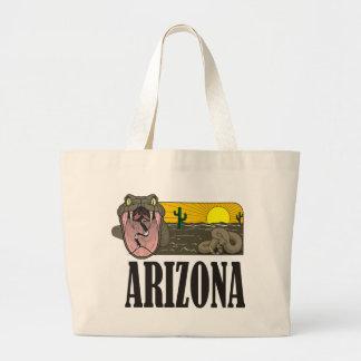 Snake State of Arizona USA: Rattlesnake and desert Canvas Bags