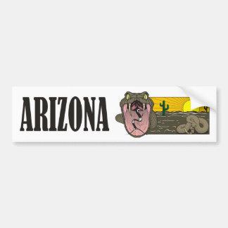 Snake State of Arizona USA: Rattlesnake and desert Bumper Sticker