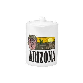 Snake State of Arizona USA: Rattlesnake and desert Teapot