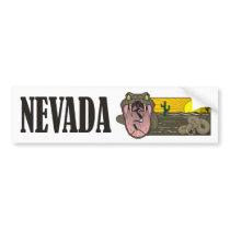 Snake State of Nevada USA: Rattlesnake and desert Bumper Sticker