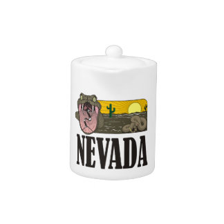 Snake State of Nevada USA: Rattlesnake and desert Teapot