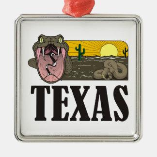 Snake State of Texas, USA: Rattlesnake and desert Christmas Tree Ornaments