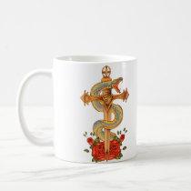 Snake tattoo design mug