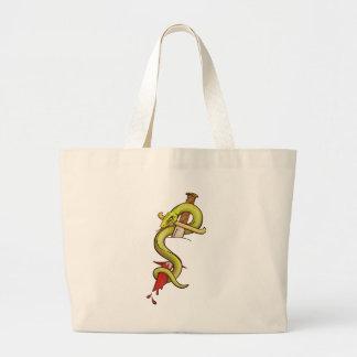 Snake Tattoo transparent background Jumbo Tote Bag