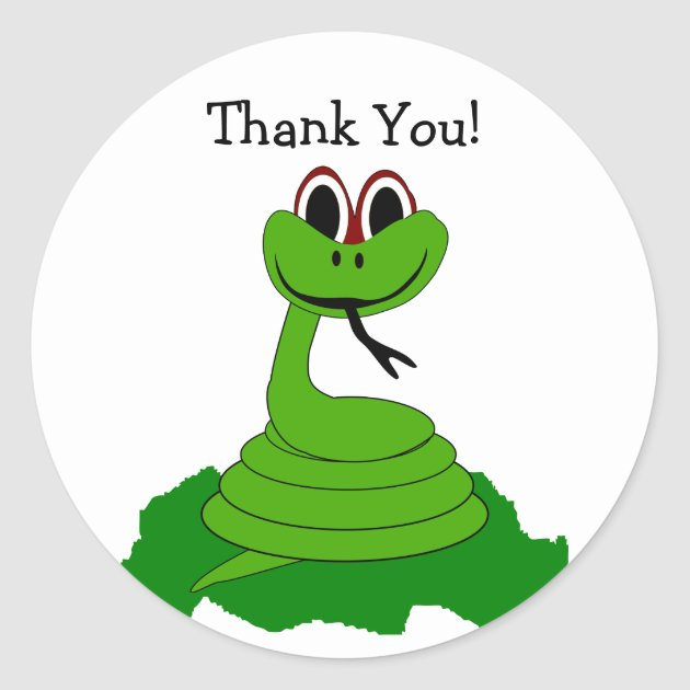 Snake Design 20 Personalized Thank You Cards