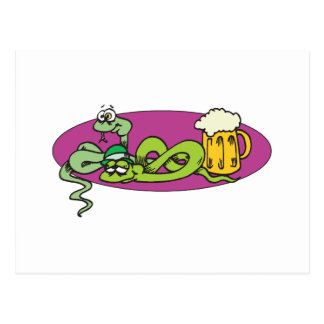 Snake That Got Drunk Off The Beer Postcard