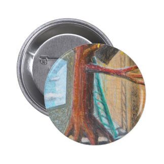 Snake Up a Tree Pinback Button