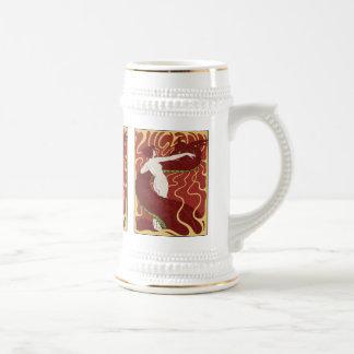 Snake Woman Beer Stein - Art Nouveau - Jugend Coffee Mug
