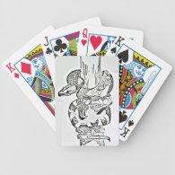 snake wrapped around tree poker cards