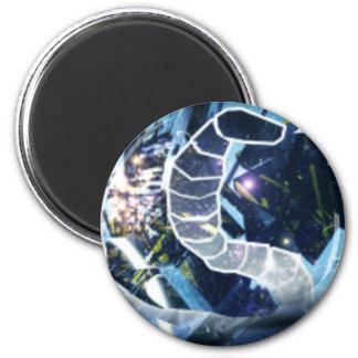 SnakeArtBanner 2 Inch Round Magnet