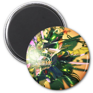 SnakeFlower 2 Inch Round Magnet