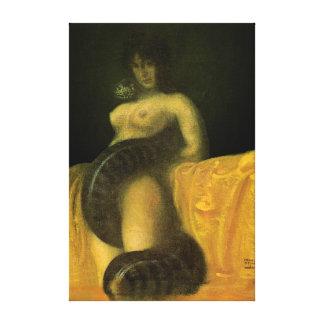 SnakeGrl estiró el arte 16x24 de la pared de la lo Impresion De Lienzo