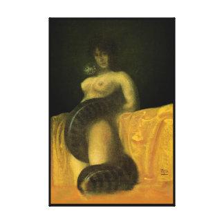 SnakeGrl estiró el arte 24x36 de la pared de la lo Lienzo Envuelto Para Galerías
