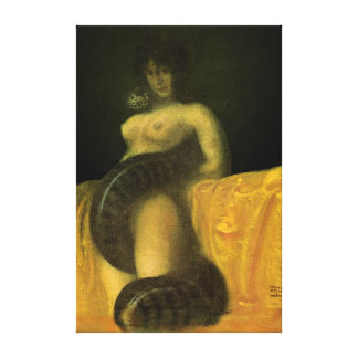 SnakeGrl Stretched Canvas Wall Art 16x24