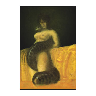 SnakeGrl Stretched Canvas Wall Art 24x36