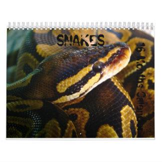Snakes  16 months Calender Calendar