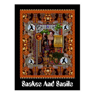 Snakes And Snails Postcard