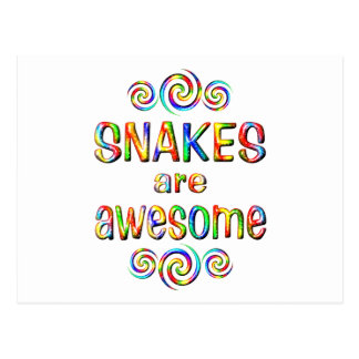 SNAKES ARE AWESOME POSTCARD