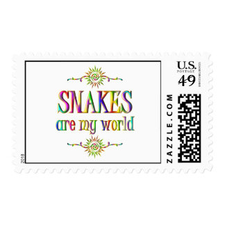 SNAKES are my world Postage