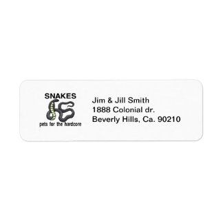 Snakes Are Pets For The Hardcore Custom Return Address Labels