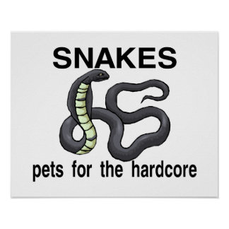 Snakes Are Pets For The Hardcore Print