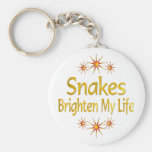 Snakes Brighten My Life Key Chains