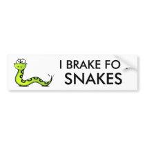 snakes bumper sticker