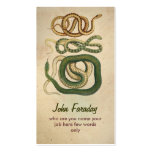 snakes business card standard business cards