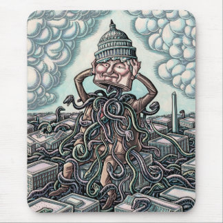 Snakes From Man Sitting on Capitol Mouse Pad