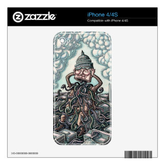 Snakes From Man Sitting on Capitol Skins For iPhone 4S